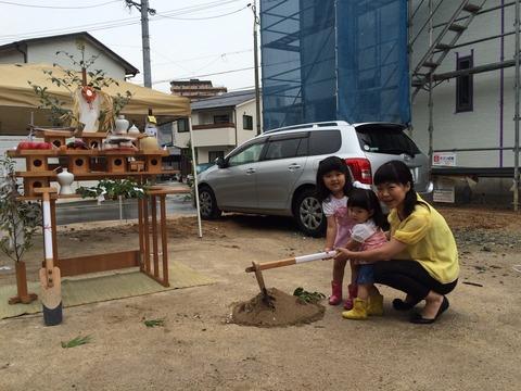 松本様邸の地鎮祭_3484