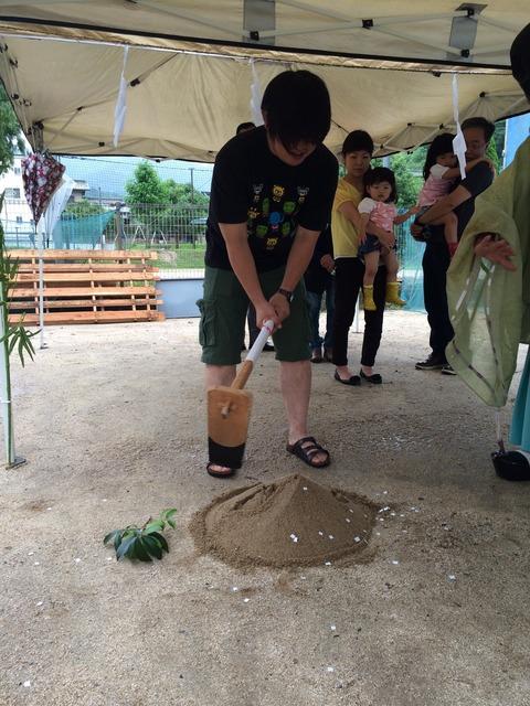 松本様邸の地鎮祭_3376